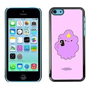 YiPhone /// Prima de resorte delgada de la cubierta del caso de Shell Armor - Angry Cloud Star Art Drawing Cartoon - Apple iPhone 5C