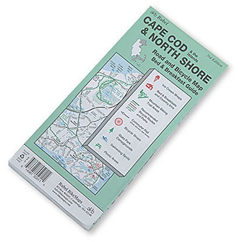 Cape Cod & North Shore Bike Routes by Rubel Bike Maps - Cod Mall Shopping Cape