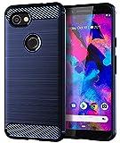 Google Pixel 3a XL Case,Yiakeng Shock Resistant Soft Glitter TPU Anti-Fingerprint Full Protective Phone Cases for Google Pixel 3a XL 6' (Blue)