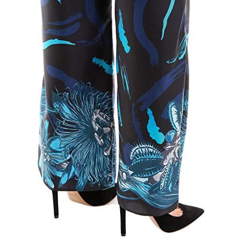 Bleu noir Soie Versace Pantalon Bd40331bt20894b7093 Femme Versus 7wqHpW1PW