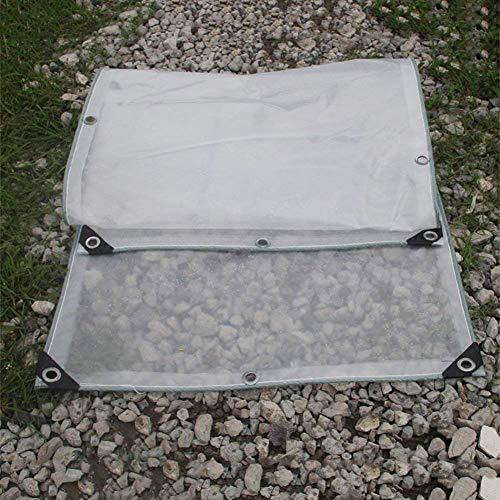 リーチ広範囲に船員QIANGDA トラックシート荷台カバープラット厚く透明 防水 フロアカバー プラスチック織布 屋外(180 g / m2) 複数のサイズ (色 : トランスペアレント, サイズ さいず : 4x5m)
