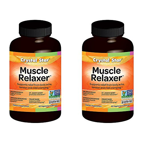 Crystal Star Muscle Relaxer Herbal Supplements, 60 Count (120) (Best Herbal Muscle Relaxer)