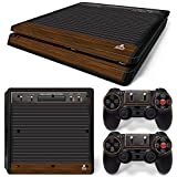 Ps4 Slim Playstation 4 Console Skin Decal Sticker Atari Old Retro + 2 Controller Skins Set