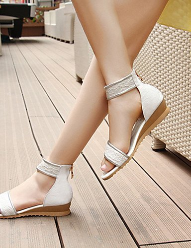 Beige Dress Black Wedge Beige Sandals Heel Toe Comfort Open ShangYi Shoes Leather Womens Casual White qPtxwnazO