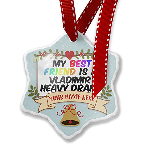NEONBLOND Add Your Own Custom Name, My Best Friend a Vladimir Heavy Draft, Horse Christmas Ornament (Christmas Draft Horse)