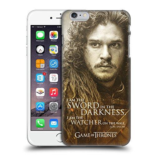 Officiel HBO Game Of Thrones Jon Snow Portraits De Personnage Étui Coque D'Arrière Rigide Pour Apple iPhone 6 Plus / 6s Plus