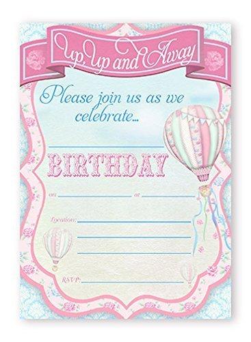 Amazoncom Hot Air Balloon Invitations 10 Invitations 10