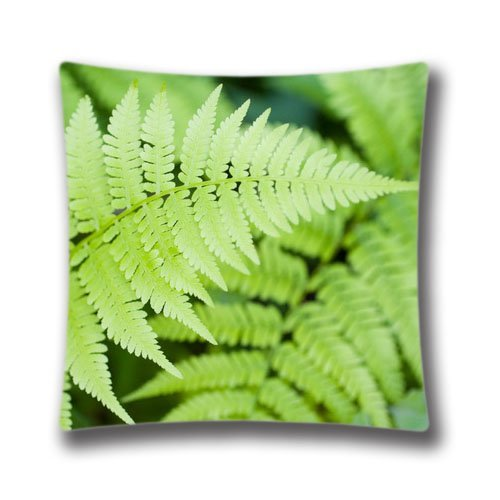 Cute DIY Design Home Decorative Custom Ferns Pillow Case 16X16 inch(two sides),SDI1556 ()