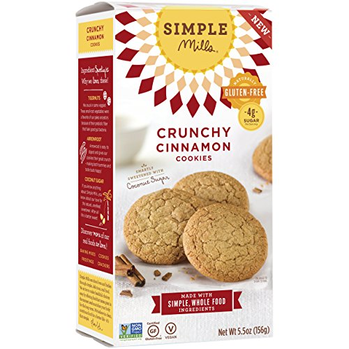 Cinnamon Gluten Free Cookies - Simple Mills Naturally Gluten Free Crunchy Cookies, Cinnamon, 5.5 oz