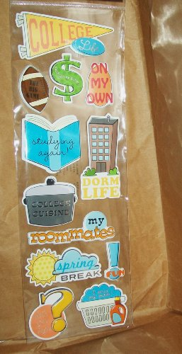 Recollections Dimensional Stickers - College Themed
