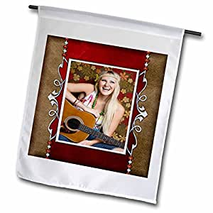 Susan Brown Designs People Themes - Hippie Guitar Girl - 12 x 18 inch Garden Flag (fl_99485_1)