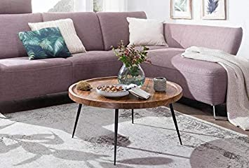 Priti Solid Wood Indiana Lass Round Coffee Table