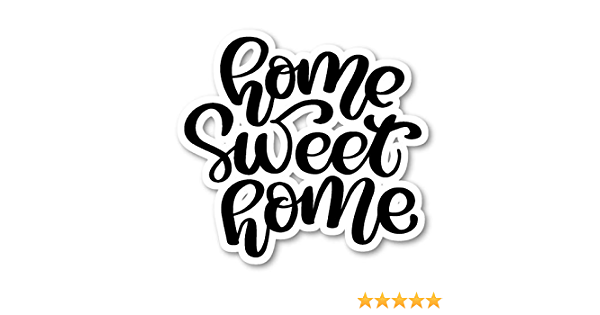 Home Sweet Home Cursive Quotes Stickers Window Truck Car Vinyl Bumper Sticker Decal 5