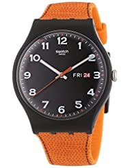 Swatch Men's Originals SUOB709 Black Silicone Swiss Quartz Watch