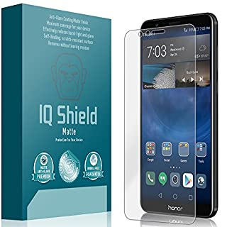 IQ Shield Matte Screen Protector Compatible with Huawei Honor 7X (Huawei Mate SE) Anti-Glare Anti-Bubble Film