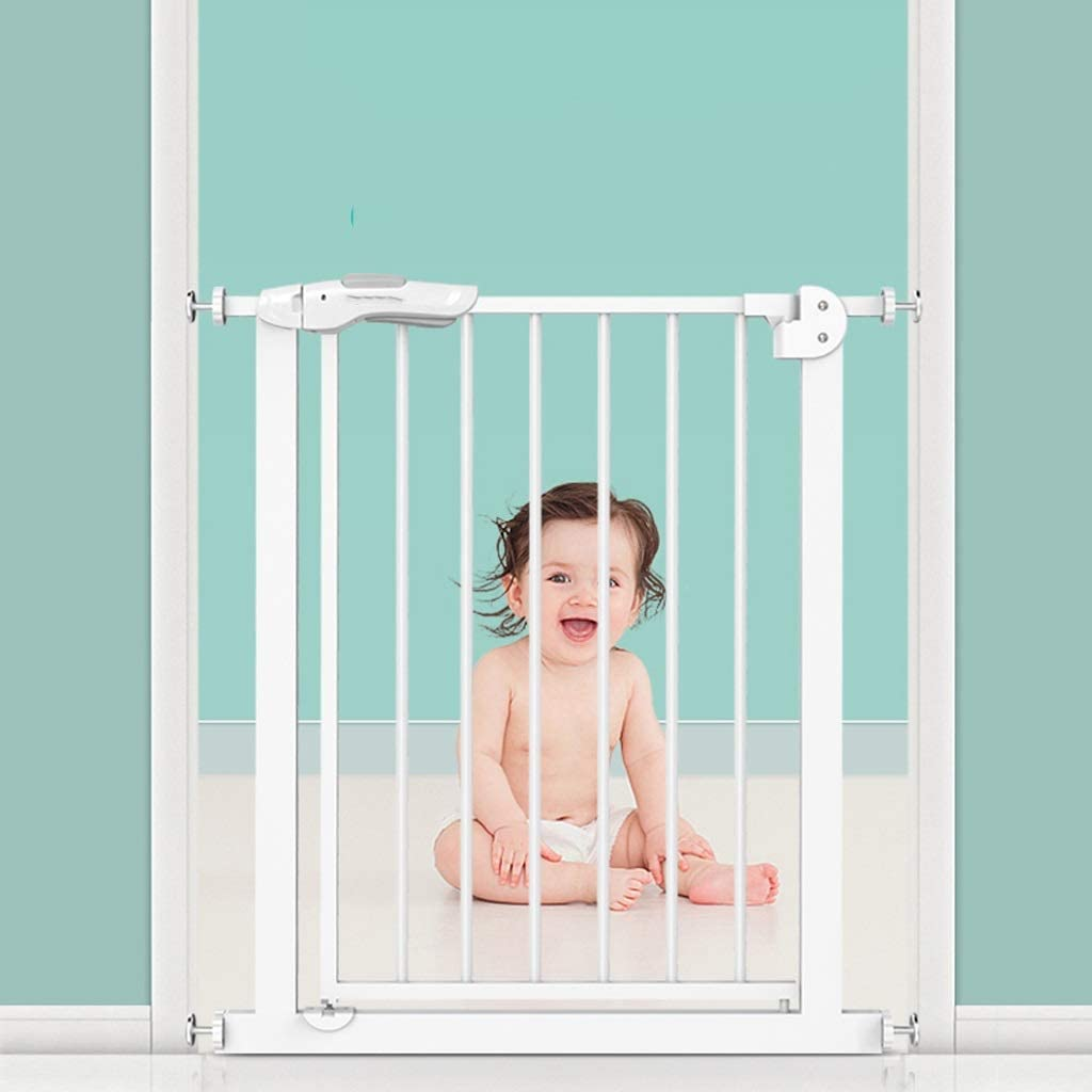 ベビーフェンス ハウス階段出入り口用の金属赤ちゃんの安全ゲートプレッシャーマウントオートクローズペットゲート ペットゲート (Size : 197-205cm)