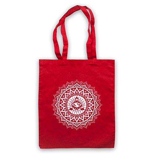 Mandala Geometric Spiritual Symbol Bolso Rojo