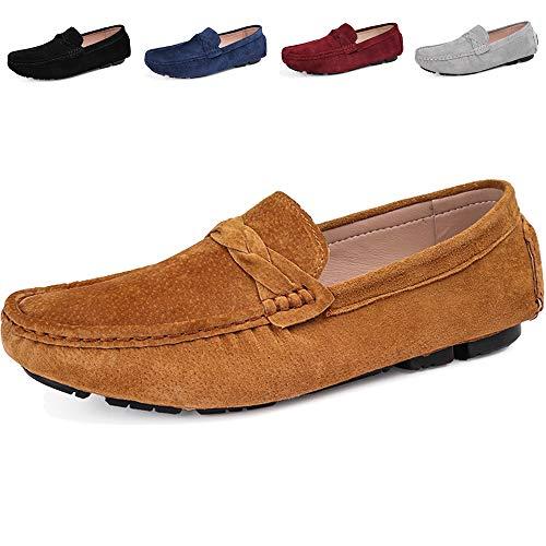 Mocasines Hombres Casual Gamuza de Zapatos Amarillo de Pisos Zapatillas Gaatpot Loafers Conducción nITdqq