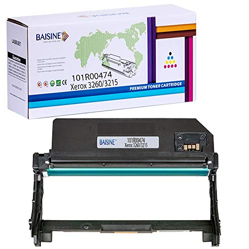 Compatible 3215 101R00474 Drum Cartridge Replacement for Xerox 101R00474 Phaser 3260 3260DNI 3260DI WorkCentre 3215 3225 3215NI 3225DNI Printer Ink-by BAISINE (Drum, 1 Pack)