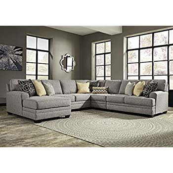 Amazon Com Signature Design Cresson Pewter Laf Sectional
