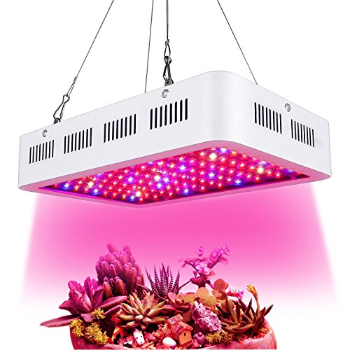 Latest 1000W LED Grow Light Full Spectrum for Greenhouse Hydroponic Indoor Plants Seeding/Growing/Flowering with Double Chips Growing Bulbs (White) Hydroponic System 7