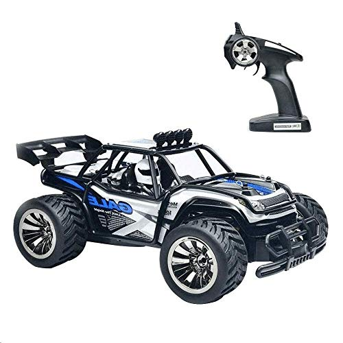CSFLY Rock Off-Road Vehicle 2WD High Speed 1/16 Racing Truck RC Cars 2.4Ghz Remote Radio Control Crawler with Rechargable Battery (BL)