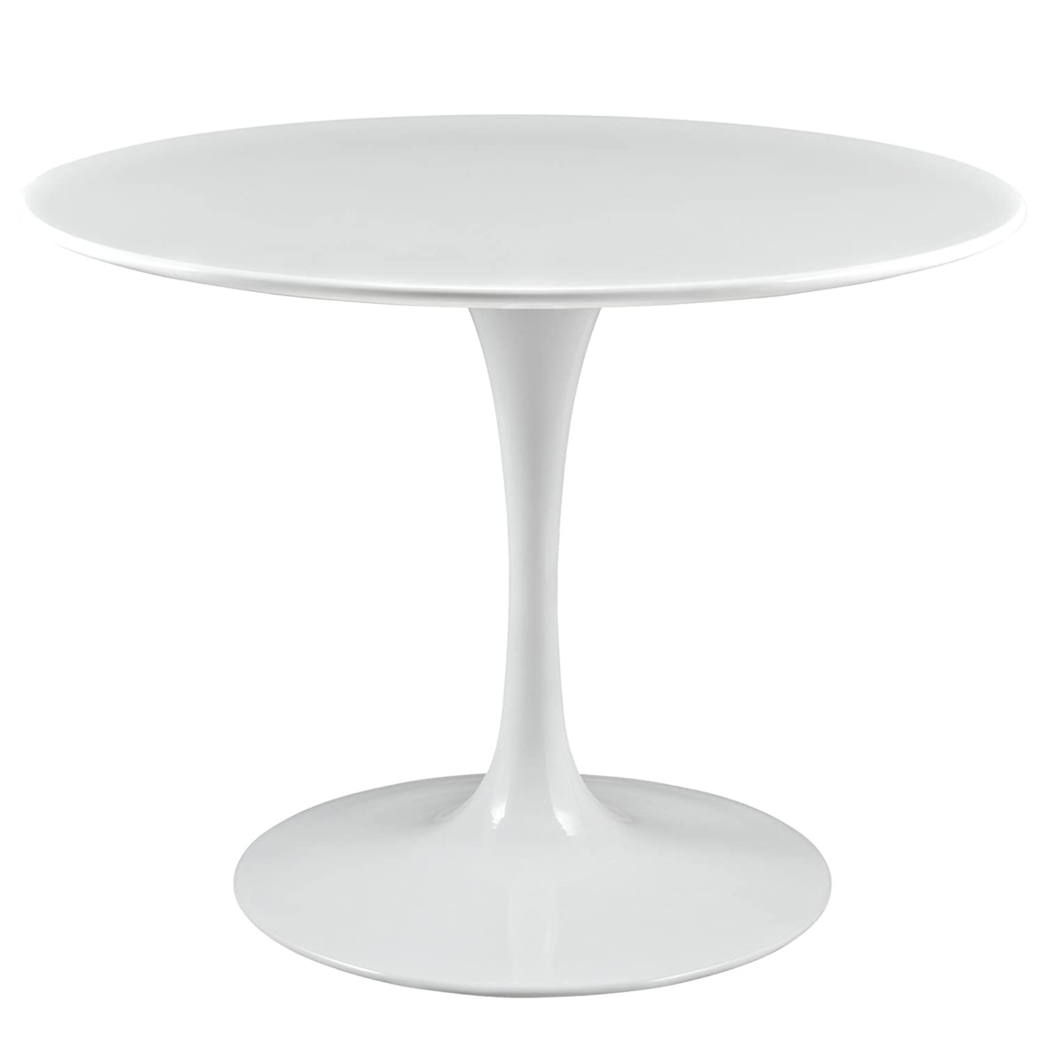 amazoncom lexmod lippa quot fiberglass dining table in black kitchen amp dining: 40 inch round pedestal dining table