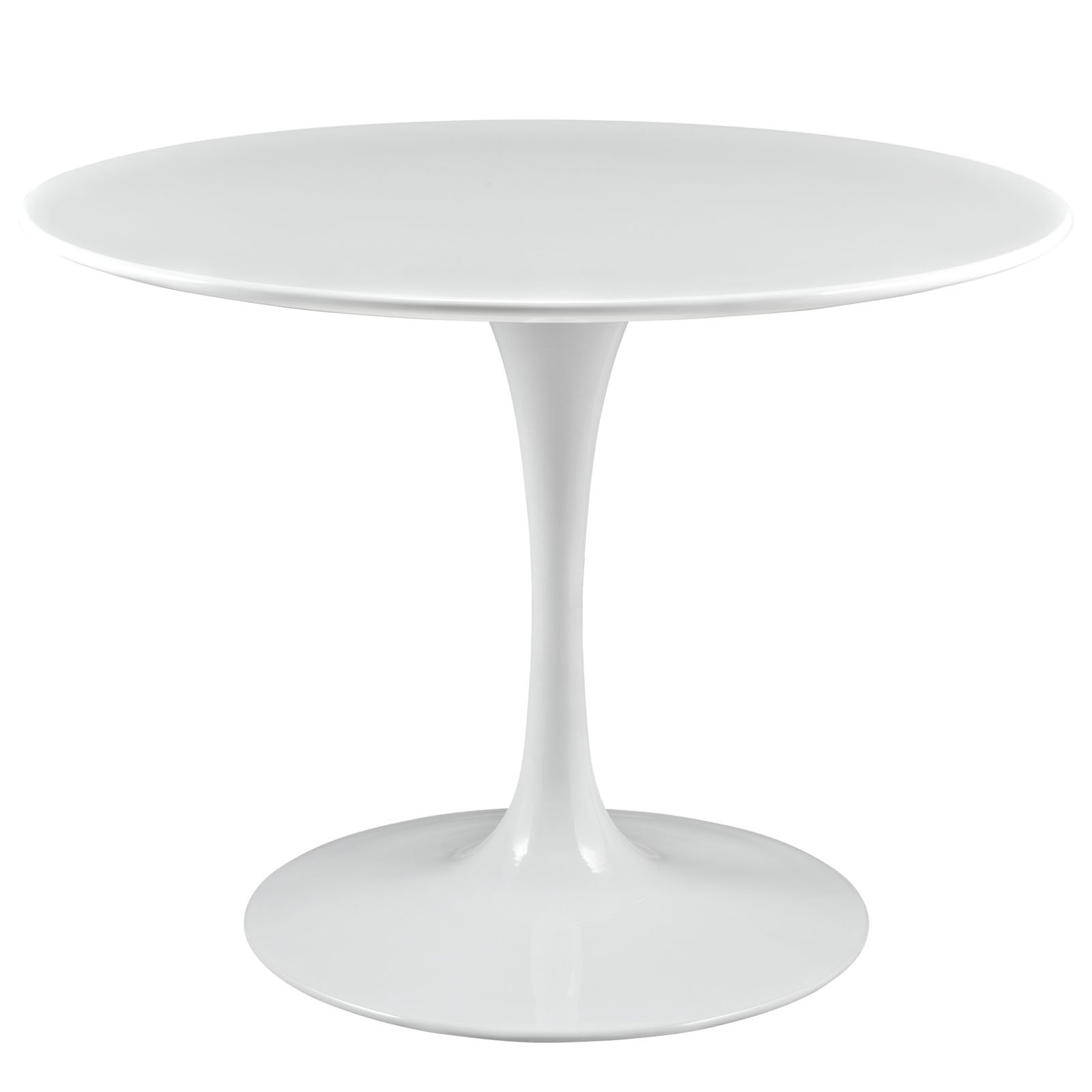 Modway Lippa 40'' Mid-Century Modern Kitchen and Dining Table with Round Top and Pedestal Base in White by Modway