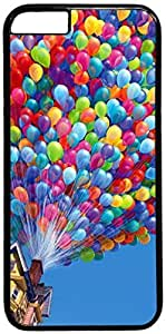 Colorful Balloons House Up Up Movie Apple iPhone 6 Plus Case, iPhone 6 Plus (5.5 inch) PC Black Hard Shell Cover Skin Cases
