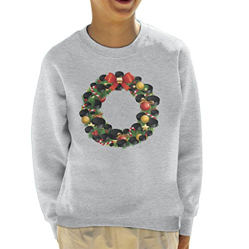 Hockey Wreath (Coto7 Christmas Ice Hockey Puck Wreath Kid's Sweatshirt)