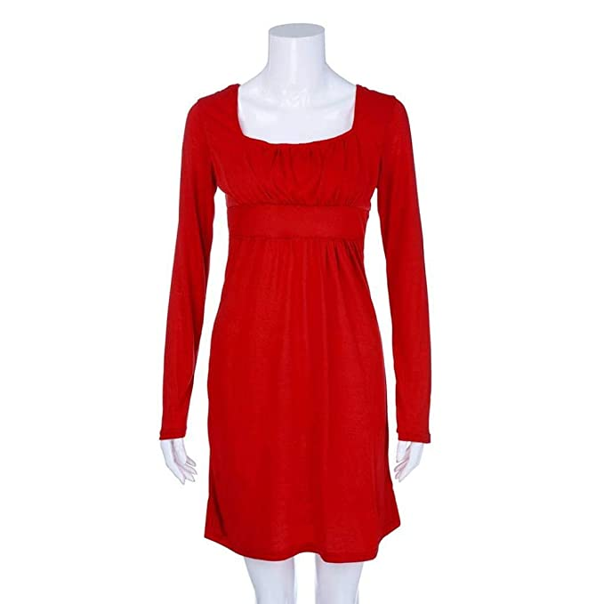 POLP Vestidos Cortos Mujer, Tallas Grandes Vestidos, Ropa otoño Mujer, Vestido Manga Larga Mujer, Vestidos otoño, Tallas Grandes Vestidos de Fiesta.