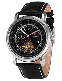 KS Luxury Tourbillion Moon Phase Automatic Mechanical Men's Leather Wrist Watch KS068
