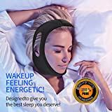 Anti Snoring Chin Strap – Lexsong Snoring Solution Stop Snoring Sleep Aid for Men and Women