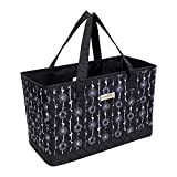 Everything Mary Deluxe Quilted Black & Floral Sewing Machine Carrying Case - Sewing Machine Cover Case Tote Bag for Brother, Singer, Standard Size Machines - Sewing Bag with Handles for Travel