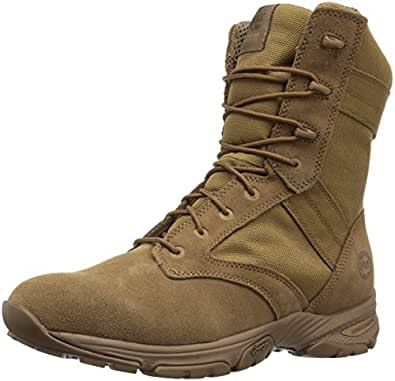 "Timberland PRO Men's Valor 8"" Soft Toe Military and Tactical Boot, Coyote Microfiber, 14 W US"