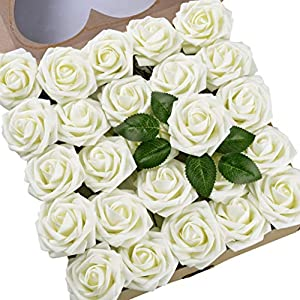 Umiss Roses Artificial Flowers Fake Flowers Wedding Decorations Set 50pcs Artificial Flora DIY Wedding Home Office Party Hotel Restaurant Patio Yard Decoration 37