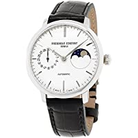 Frederique Constant Manufacture Silver Dial Leather Strap Men's Watch FC-702S3S6