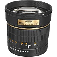 Bower SLY85S High-Speed Mid-Range 85mm f/1.4 Telephoto Lens for Sony