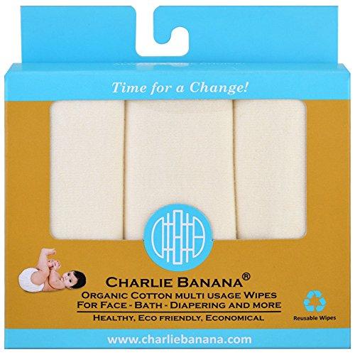 Charlie Banana 10 Reusable Organic Cotton Wipes