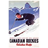 Banff-Lake Louise Ski Areas, Canadian Rockies (Canadian Pacific) Vintage Art Poster Print