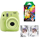 Fujifilm Instax Mini 8 Instant Film Camera with INSTAX Mini Instant Film and Mini Magnetic Frames