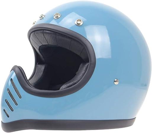 Dot certifi/é r/étro Full Face Cruiser 3//4 Casque Harley//Unisexe Shfmx Casque int/égral Moto Adulte M, L, XL, XXL ,M