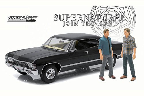 Greenlight Supernatural 1967 Chevy Impala Sport, Black 19021 - 1/18 Scale Diecast Model Toy Car