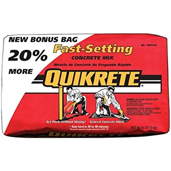 Quikrete Fast Setting Concrete Mix Fast Setting Bag 50 Lbs