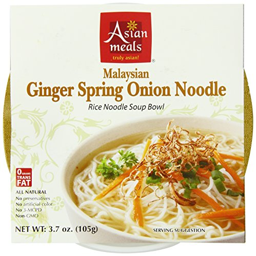 Asian Meals Premium Soup Noodle Bowls, Ginger Spring Onion, 3.7-Ounce (Pack of 6)