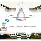 TUPELO Bluetooth 4.0 Control Mini Smart LED Bulb Music Audio Speaker 6W E27 RGB Light Lamp