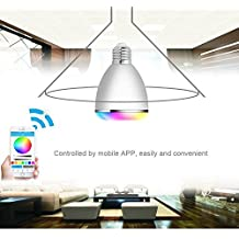 TUPELO Bluetooth 4.0 Control Mini Smart LED Bulb Music Audio Speaker 6W E27 RGB Light Lamp