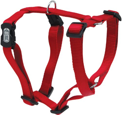 Dogit Adjustable Dog Harness, Medium, Red, My Pet Supplies
