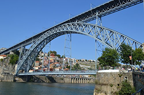 Home Comforts LAMINATED POSTER Track Portugal Postage River Transport Bridge Poster 24x16 Adhesive Decal (Adhesive Postage)