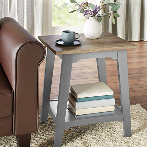 Better Homes and Gardens Bedford (Accent Table, Gray) (Tables Colored Accent)
